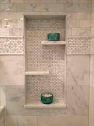 bathroom tidy ideas shower shelving sarahdinkelacker