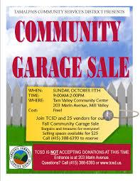 tam valley community garage sale pacific sun marin county
