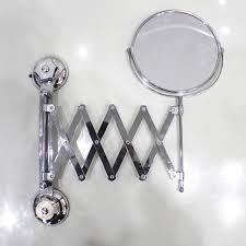 Suction Bathroom Mirror Two Sided Bathroom With Makeup Mirror Telescopic Mirror Toilet