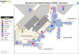 Seattle Terminal Map spokane spokane international geg airport terminal maps