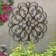 Faux Wrought Iron Wall Decor Wall Scroll Metal Wall Hanging Bohemian Decor Faux Wrought Iron
