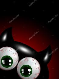 Halloween Monster Games by Halloween Monster With Green Eyes With Place For Text U2014 Stock