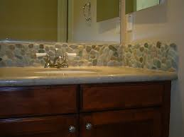 tile backsplash ideas bathroom fascinating bathroom tiles with pebble back splash combined brass