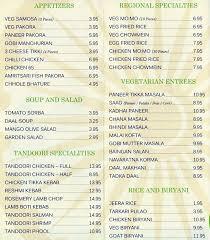 indian cuisine menu great indian cuisine menu menu for great indian cuisine santa