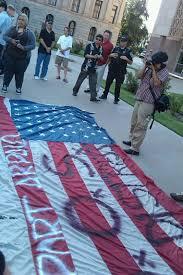 Flag Desecration Law Flag Desecration Counter Protest U2013 2011 Pheonix Tax Day Tea Party