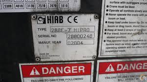 sold 2004 hiab 288e 7 hipro 10 5 ton unmounted knuckleboom truck