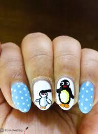 penguin nail art u2013 cartoon pingu inspired nails u2013 dendiva