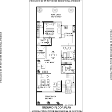 250 Square Foot Apartment Floor Plan by House Plan For 30 Feet By 75 Feet Plot Plot Size 250 Square Yards