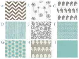 Grey Chevron Crib Bedding Set Fresh Aqua And Gray Chevron Elephants Ikat Dots By Happymae