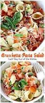 easy caprese pasta salad with cherry tomatoes mozzarella and