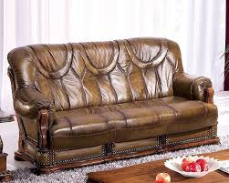 Colored Leather Sofas European Design Leather Sofa Bed In Light Brown Finish 33ss182
