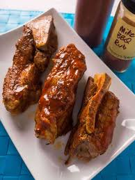 pressure cooker pork western shoulder ribs with barbecue rub and