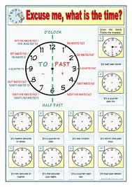 Time Clock Worksheets 36 Free Esl Clocks Worksheets