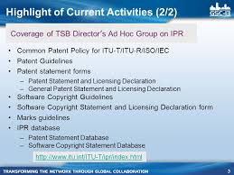 bureau int r overview of the tsb director s ad hoc on ipr
