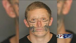 skull face tattoo escaped inmate corey hughes captured the