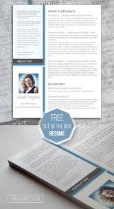 trendy resume templates free 67 best free resume templates for word images on pinterest free a splash of blue the free modern resume design