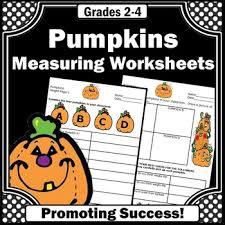 pumpkin math worksheets measuring pumpkins 4th grade thanksgiving