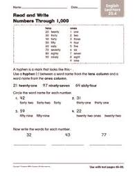 read and write numbers through 1 000 english learners 4th 5th