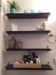 Bathroom Wall Shelves Bathroom Ideas Corner Bathroom Wall Shelves On White Painted