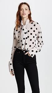 scarf blouse zinko silk polka dot scarf blouse shopbop