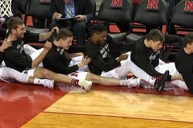 basketball bench celebrations nebrasketball s bench mob bringing joy to the sideline off