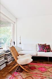 home inspiration pink and rugs a cup of jo