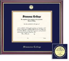 college diploma frame diploma frames simmons college bookstore
