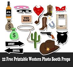 picture props 22 free printable western party photo booth props