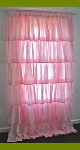 Anthropologie Ruffle Shower Curtain Sweet Pink Ruffle Curtains For Young Girls U0027 Room Naindien
