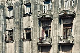 art deco balcony old havana art deco building style with balconies and windows stock