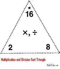math fact families multiplication division multiplication division fact triangle jpg
