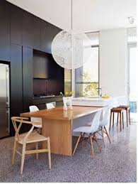 charcoal timber and white modern kitchen k i t c h e n