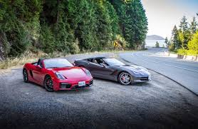 porsche boxster comparison comparison test 2015 chevrolet corvette stingray vs 2015 porsche