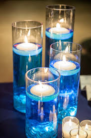floating candles blue dyed water tea lights wedding baltimore