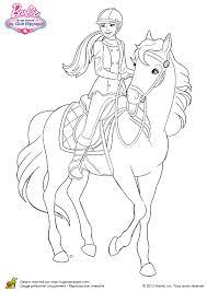 a colorier dessin de stacie galopant sur son cheval coloriages