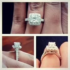 neil engagement 2 carat neil engagement ring on 4 5 size finger