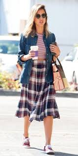 plaid skirt style and fashion trend coverage whowhatwear