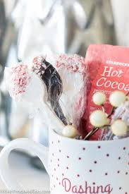 candy cane dipped cocoa spoons a delicious gift wife in