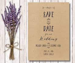 rustic save the date printable rustic save the date diy save the date kraft paper