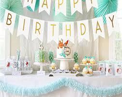 Happy Birthday Banner HAPPY BIRTHDAY Birthday Decoration