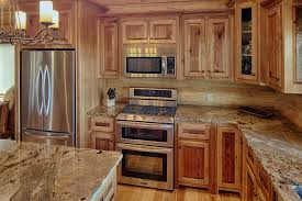 Rustic Hickory Kitchen Cabinets Hickory Cabinets Kitchen Rustic With Hardwood Granite