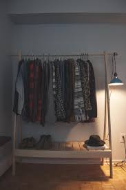 Audio Rack Diy Home Design Diy Clothing Rack With Shelves Industrial Compact