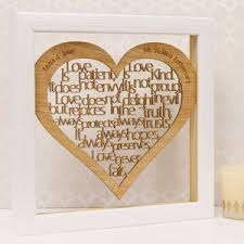 5th wedding anniversary ideas 5th wedding wood anniversary gifts notonthehighstreet