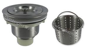 Huge Selection Of Basket Strainers For Kitchen And Bar Sinks - Kitchen sink basket strainer plug