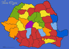 romania map of counties map travel vacations