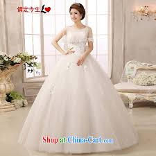 wedding dress version new 2015 larger korean version field shoulder wedding dresses