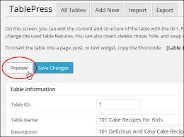 Wordpress Tables How To Add Tables To Wordpress Renee Shupe