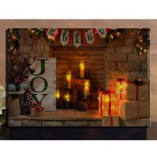popular christmas lights frame buy cheap christmas lights frame canvas wall art with led lighted up flicking candles for christmas gifts framed canvas picture oil