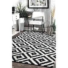 Area Rug Black And White Black And White Rugs Black Tufted Area Rug 5 X 8 Black White