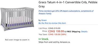 Storkcraft Portofino Convertible Crib And Changer Combo Espresso by Amazon Canada Deals Save 19 On Davinci Kalani 4 In 1 Convertible